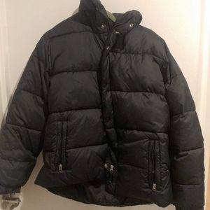 Black Men's Old Navy Puffer Jacket Coat WARM